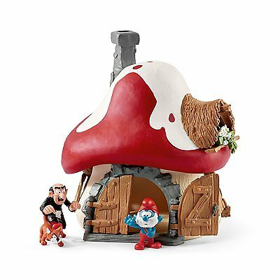 Schleich 20803 - The Smurfs Smurf House with Papa Smurf and Gargamel and Azrael