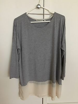Ripe Maternity Women's Size Large Marle Grey Long Sleeve Stretch Top