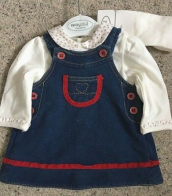 BNWT Newborn Baby Girls Outfit - Dress, Top and Tights