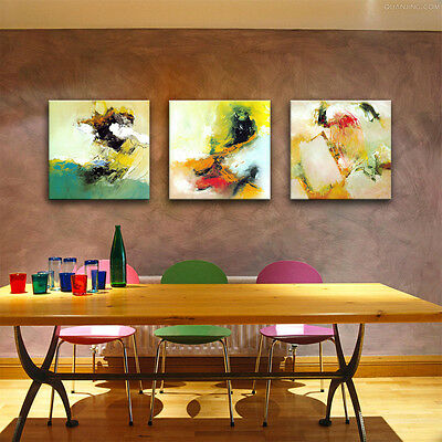 HD Print Canvas Painting Abstract Watercolor Picture Wall Art Home Decor Framed