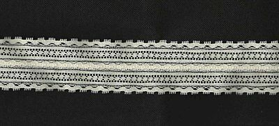 Vintage Nos Double Wide Scalloped Insert Lace -2'' Wide- Bty