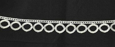 Vintage Entreduex And Woven Circles 1 1/8'' Trim. Bty