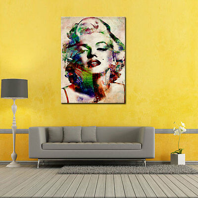 Print on Canvas Painting Marilyn Monroe Print Wall Art Home Decoration No Frame