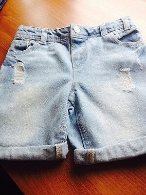 Two Pair Of  Boys Denim Shorts New Age 5 To 6