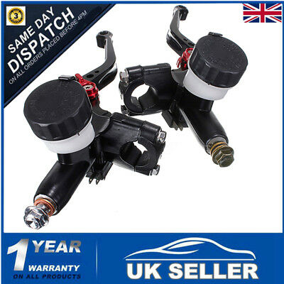 "Pair 7/8"" Universal Motorcycle Cnc Hydraulic Radial Brake Master Cylinder Clutch"