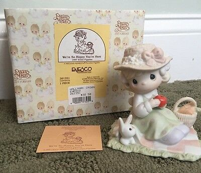 "Precious Moments ""We're So Hoppy You're Here"" 1997 Event Figurine #261351 w/box"
