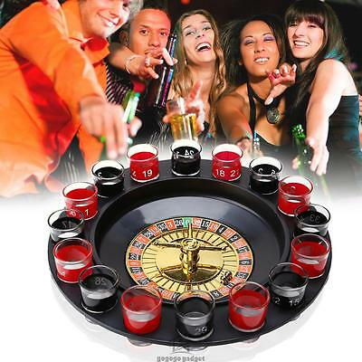 Hot Drinking Roulette Party Set Spin Shot Stag Hen Game Glass Games Adult Drink