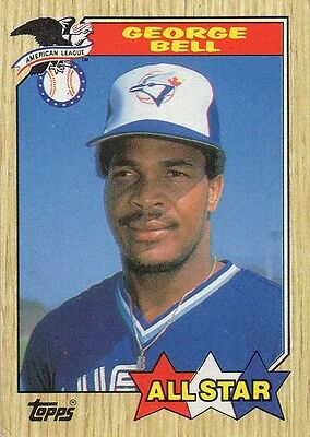 George Bell 1987 Topps All Star