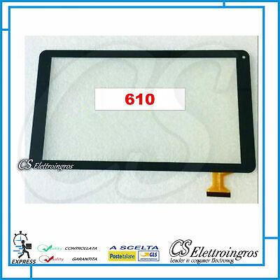 Vetro Vetrino Touch Screen nero Tablet 10.1' Majestic TAB 610+ biadesivo