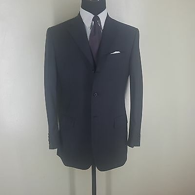 Givenchy  Super 130's Wool Gray Suit 3 Btn. Side Vents Full Canvas Lining 40 Reg