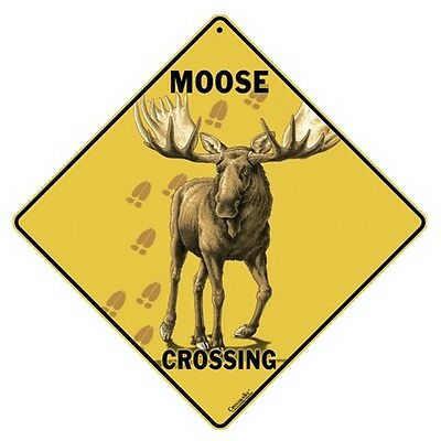 Moose Crossing Sign NEW 12x12 Metal Free Shipping