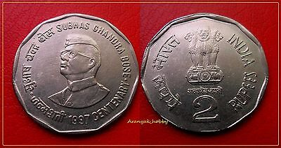 1St Time ! 2 Rs Ex. Rare Double Die Error Coin Of Freedom Fighter Subhas Ch Bose