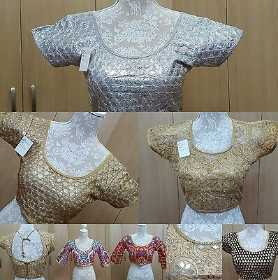 c52b3a934d8744 Blouse Ready Made Wedding Party Wear Indian Designer Saree Stitched Crop-Top