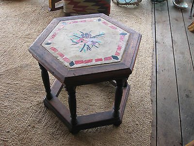 Arts & Crafts Oak and Cut Glass Table C.1930's