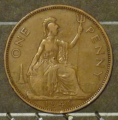 1940 Great Britain Large Penny  Coin     F113