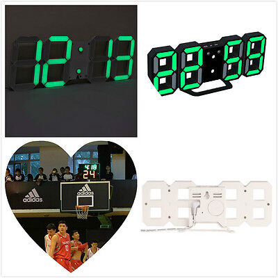 moderne wanduhr 3d led digital wanduhr wall clock uhr. Black Bedroom Furniture Sets. Home Design Ideas