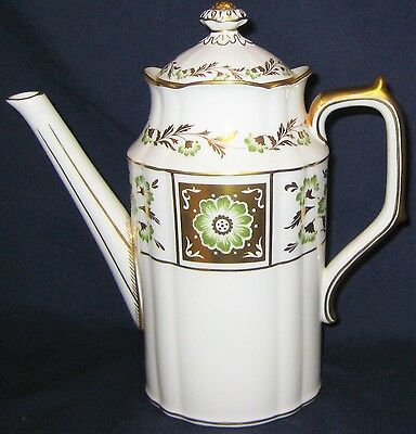 Royal Crown Derby - Green Derby Panel  - Large Coffee Pot