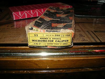 vintage Brown and Sharpe micrometer no.11 in original box