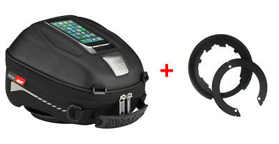 Givi Tanklock Combo Kit - ST602 4 Liter Tank Bag & BF11 Tank Ring Mount