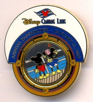 Disney Cruise Line Mickey Minnie on Deck Swivel Annual Passholder LE Pin