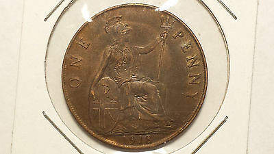 World Coin 1918 United Kingdom 1 Penny Circulated