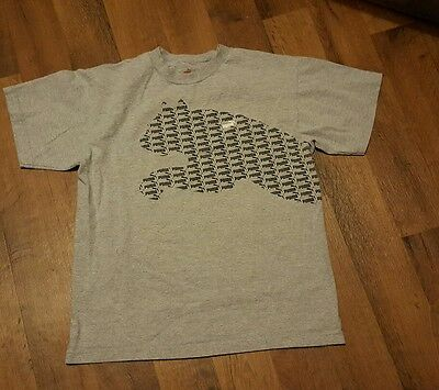 Boys Size XL (18) Gray PUMA Short Sleeve Top/T-shirt Great Condition!!