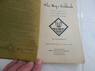 vtg boy scout book 1930 THE BOY'S CUBBOOK  Boy Scouts of America paperback Rare