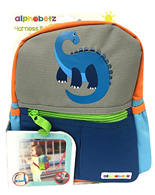 Toddler Safety Harness Backpack Kids Child Dinos Walking Leash Keeper Adjustable