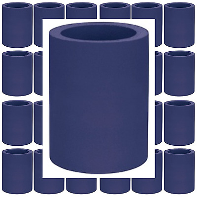 Navy Blue Can Coolers Beverage Insulators Lot of 4 Blank Thick Hard Foam
