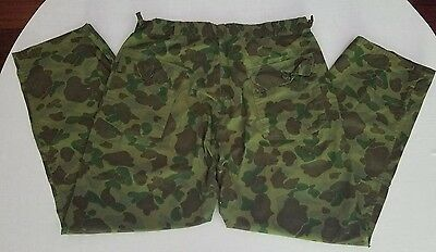 Vintage 1960s hunting pants green camouflage camo EXCELLENT 36-39W x 30L