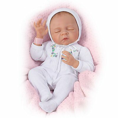 "Cherish Collectible Lifelike Vinyl Baby Doll: So Truly Real 18"" by Ashton Drake"