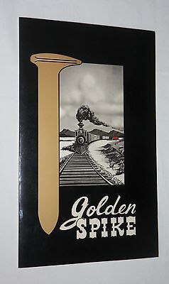 Vintage GOLDEN SPIKE MENU Rawlins, Wyoming 1960s? Quality Motel
