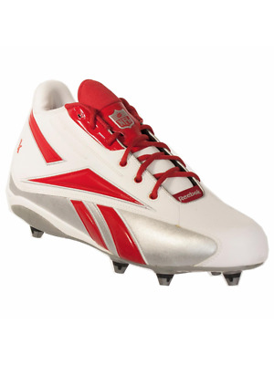 379053bb1093b2 Reebok Nfl Thorpe Mid D Men s Football Detachable Cleats White Red 14 M