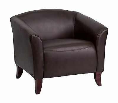 Flash Furniture 111-1-BN-GG Hercules Imperial Series Leather Chair Brown/Cherry