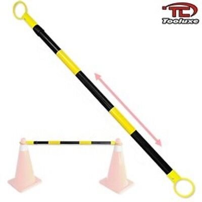 Tooluxe Safety Cone Retractable Bar 4 to 7Ft Reflectable Yellow & Black(00330L)