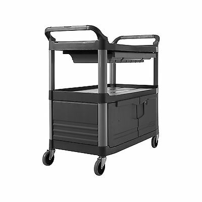 Rubbermaid Commercial Xtra Instrument and Utility Cart Gray FG409400GRAY