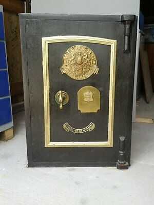 Milners Antique Victorian Floor Safe With Key Plus Internal Safe With Keys