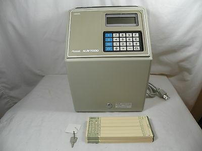 AMANO MJR-7000 Computerized Calculating Time Clock, Used In Very Good Condition