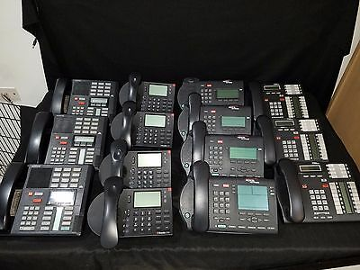 Miscellaneous Lot Of 14 Nortel Networks, Norstar, ShoreTel Digital Office Phones