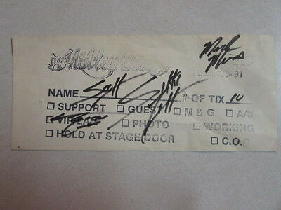 Motley Crue Envelope Autographed On Dr. Feelgood Tour By Nikki Tommy & Mick