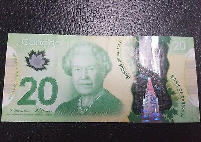Canadian $20 Dollar Bank Note Circulated  Canada