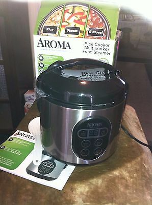 New in opened box Aroma Rice Cooker/Multicooker/Food Steamer ARC-914SBD 2-8 cups
