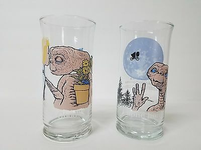 E.T. The Extra-Terrestrial Pizza Hut Collectible Glass Cups