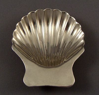 Vintage 925 Sterling Silver Footed Ashtray Aesthetic Shell Design Maciel Mexico