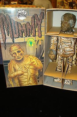 "Universal Studio 1991 Tin Mummy Wind Up mechanical walking robot 9"" tall"