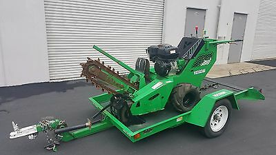2012 Vermeer RTX100 Trencher w/ 2013 Vermeer TLR30LD Trailer - only 300 hrs!