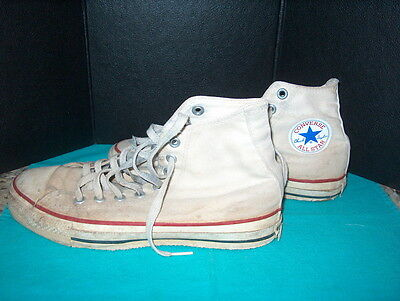 "Converse ""all Star"" High Top Basketball Shoes Vintage ""original's"" Size 7 ""chuck"