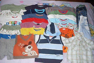 9-12 Months Baby Boys Mixed Clothes Bundle