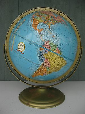 Vintage 1992 Cram's Imperial 12 Inch Raised Relief World Globe