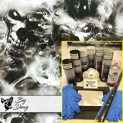 Hydro dipping Hydrographics home starter Dip Kit - Smokin' Skulls (DK-SKU20)